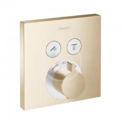 HANSGROHE - Shower Select Termostatická baterie pod omítku pro 2 spotřebiče, kartáčovaný bronz (15763140)
