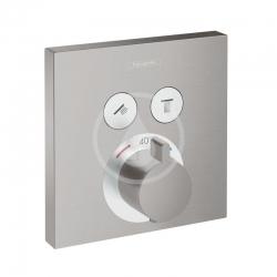 HANSGROHE - Shower Select Termostatická baterie pod omítku pro 2 spotřebiče, kartáčovaný černý chrom (15763340)