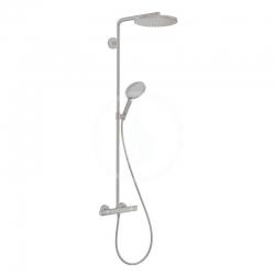 HANSGROHE - Raindance Select S Sprchový set Showerpipe s termostatem, 1jet, kartáčovaný černý chrom (27633340)