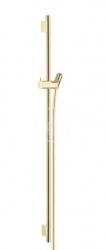 HANSGROHE - Unica'S Sprchová tyč 900 mm se sprchovou hadicí, leštěný vzhled zlata (28631990)