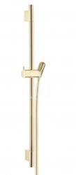 HANSGROHE - Unica'S Sprchová tyč 650 mm se sprchovou hadicí, leštěný vzhled zlata (28632990)