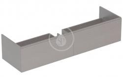 GEBERIT - Xeno 2 Skříňka pod umyvadlo Varicor 1600 mm s LED svítidlem, 2 zásuvky, šedá (500.346.43.1)