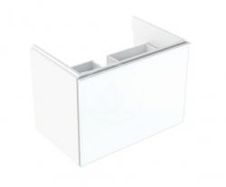 GEBERIT - Acanto Skříňka pod umyvadlo 600 mm, lesklá bílá (500.609.01.2)