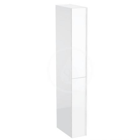 GEBERIT - Acanto Skříňka vysoká 1730x220 mm, dvě zásuvky, lesklá bílá (500.638.01.2)