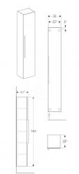 GEBERIT - iCon Skříňka vysoká 1800x360 mm, lávová (841001000), fotografie 2/2