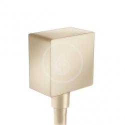 HANSGROHE - Fixfit Přípojka hadice Square se zpětným ventilem, kartáčovaný bronz (26455140)
