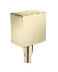 HANSGROHE - Fixfit Přípojka hadice Square se zpětným ventilem, leštěný vzhled zlata (26455990)