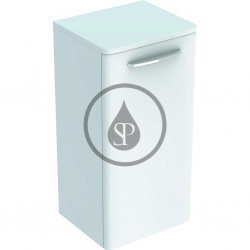 GEBERIT - Selnova Square Boční spodní skříňka 654x330x280 mm, 1 dvířka, lesklá bílá (500.181.01.1)