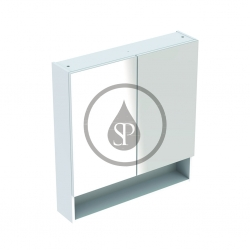 GEBERIT - Selnova Square Zrcadlová skříňka 850x788x175 mm, 2 dvířka, lesklá bílá (501.268.00.1)