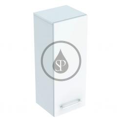 GEBERIT - Selnova Square Boční horní skříňka 850x330x297 mm, 1 dvířka, lesklá bílá (501.276.00.1)