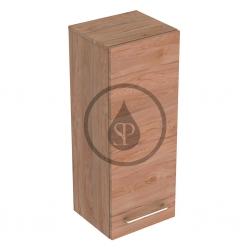 GEBERIT - Selnova Square Boční horní skříňka 850x330x297 mm, 1 dvířka, světlý ořech hickory (501.279.00.1)