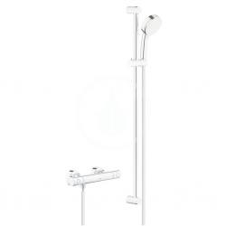 GROHE - Grohtherm 800 Cosmopolitan Sprchový set s termostatem na zeď, 2 proudy, chrom (34769000)