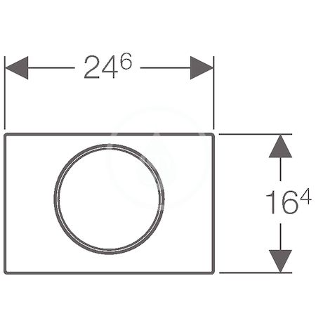GEBERIT - Sigma10 Ovládací tlačítko SIGMA10, nerez (115.758.SN.5)
