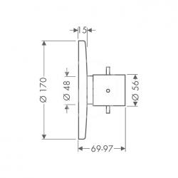 AXOR - Starck Highflow termostat pod omítku, chrom (10715000), fotografie 2/2