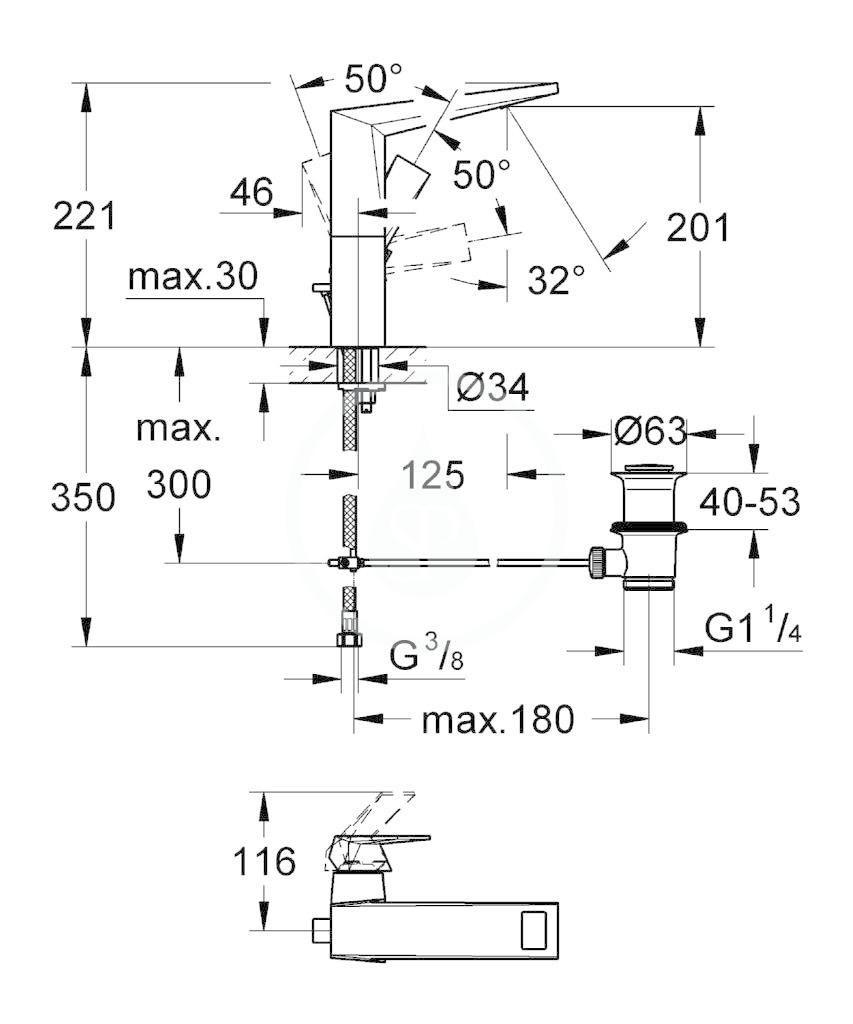 GROHE - Allure Brilliant Umyvadlová baterie s výpustí, chrom (23109000)