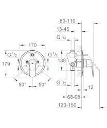 GROHE - Eurosmart Cosmopolitan Vanová baterie pod omítku, chrom (32879000)