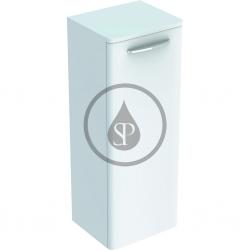 GEBERIT - Selnova Square Boční spodní skříňka 866x330x280 mm, 1 dvířka, lesklá bílá (500.182.01.1)