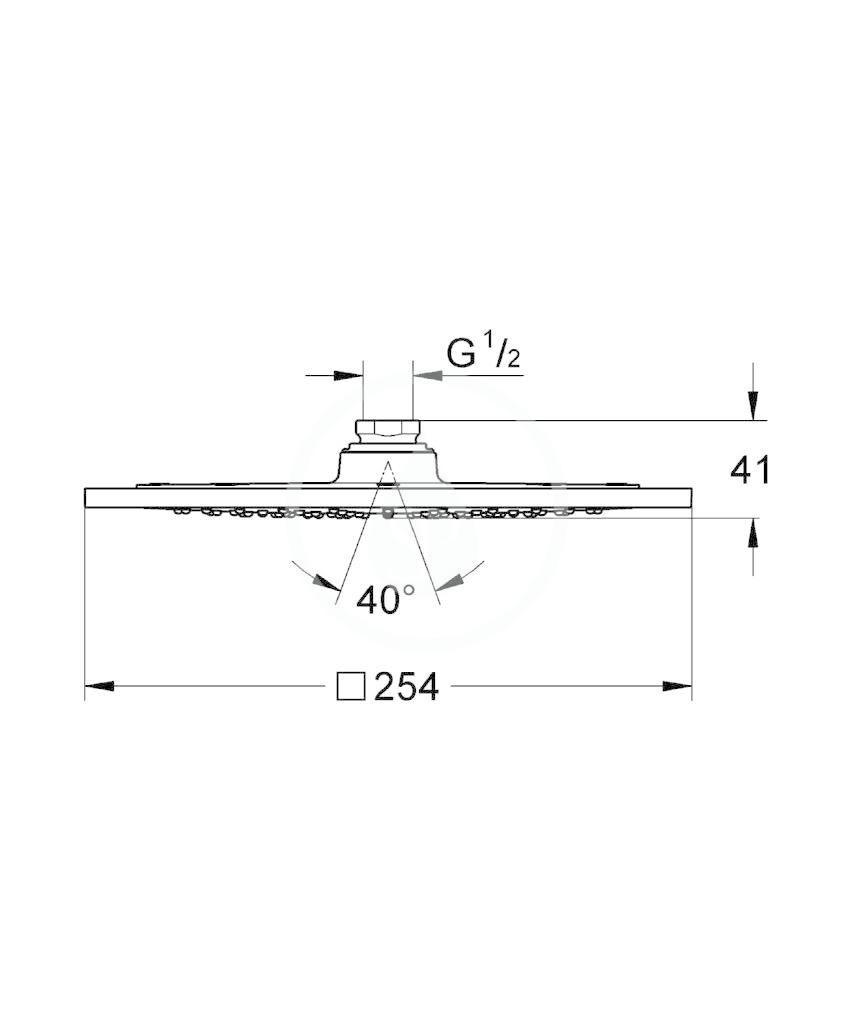 GROHE - Rainshower F Series 10, hlavová sprcha, chrom (27271000)