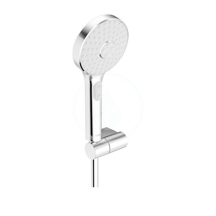 HANSA Activejet Set sprchové hlavice, 3 proudy, držáku a hadice, světle šedá/chrom 84380133