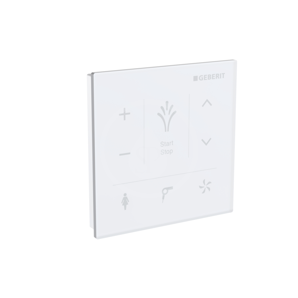 GEBERIT AquaClean Nástěnný ovládací panel pro elektronický bidet, bílá 147.038.SI.1