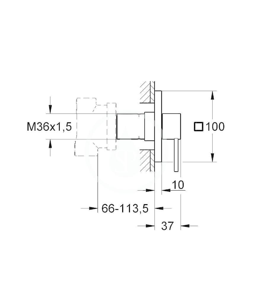 GROHE - Allure Pěticestný ventil, chrom (19590000)