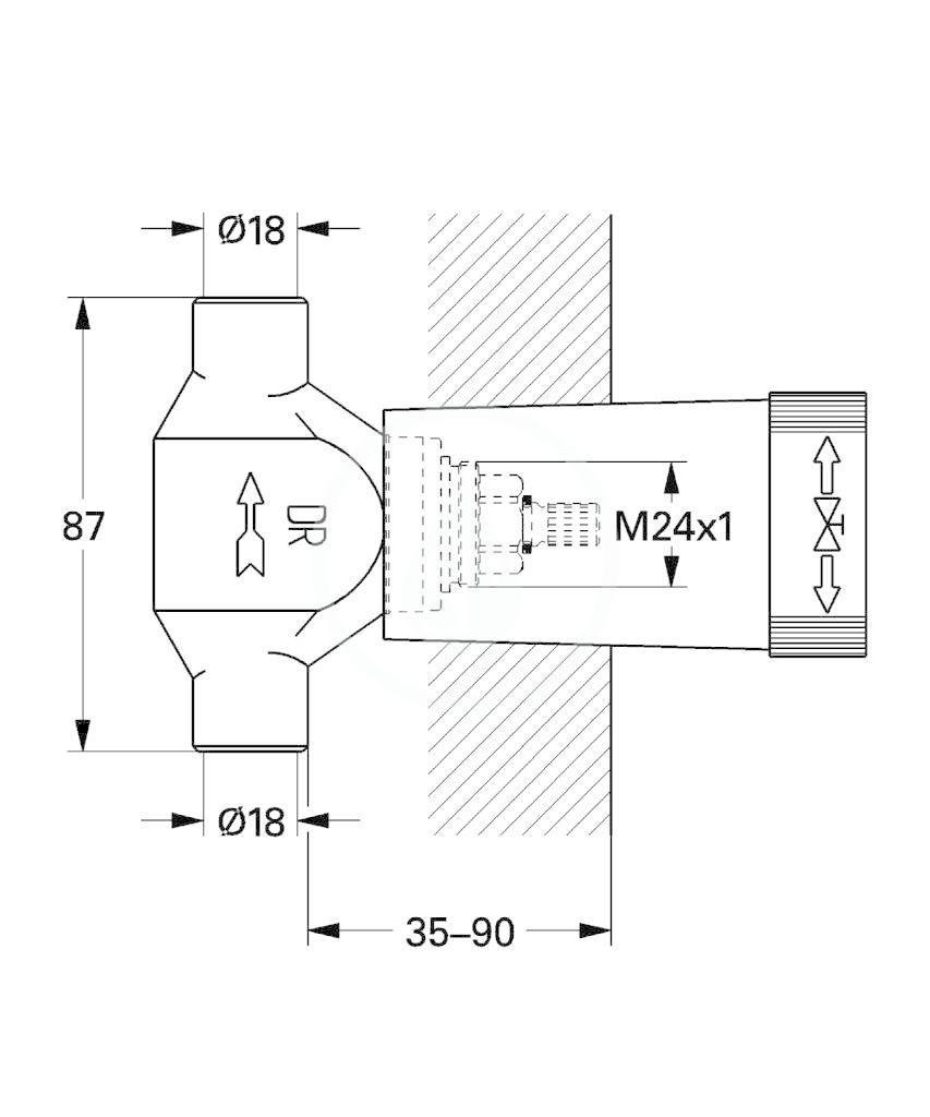 GROHE - Příslušenství Spodní díl podomítkového ventilu (29803000)