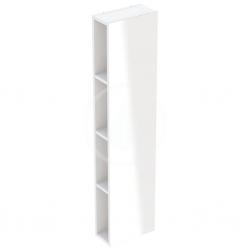 GEBERIT - iCon Regál se zrcadlem 280x1200x140 mm, matná bílá (841028000)