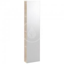 GEBERIT - iCon Regál se zrcadlem 280x1200x140 mm, přírodní dub (841030000)