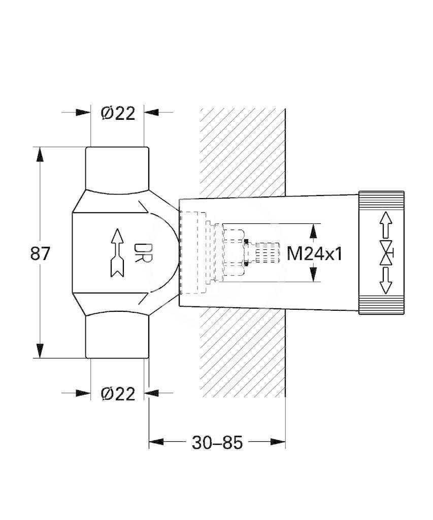 GROHE - Příslušenství Spodní díl podomítkového ventilu (29804000)