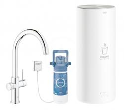 GROHE - Red Dřezová baterie Duo s ohřevem vody a filtrací, zásobník L, chrom (30079001)
