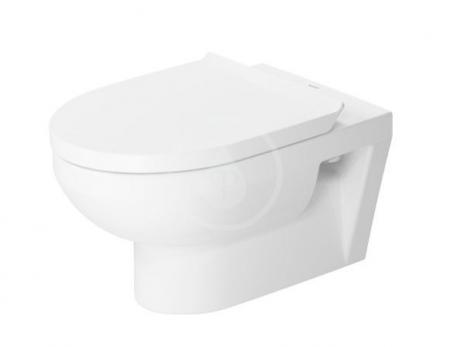 DURAVIT - DuraStyle Basic Závěsné WC, Rimless, s WonderGliss, alpská bílá (25620900001)
