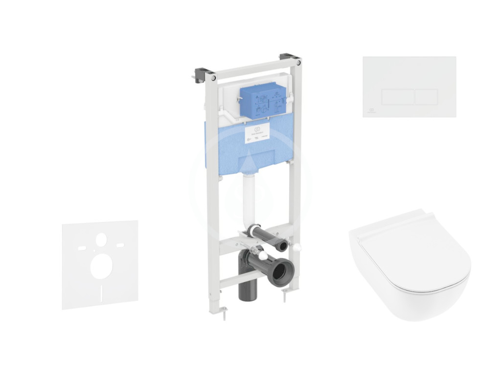 IDEAL STANDARD ProSys Set předstěnové instalace, klozetu a sedátka Mio, tlačítka Oleas M2, Rimless, Slowclose, Antibak, bílá ProSys120M SP67