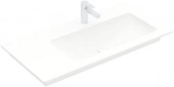 VILLEROY & BOCH - Venticello Umyvadlo nábytkové 1000x500 mm, bez přepadu, otvor pro baterii, CeramicPlus, alpská bílá (4134R2R1)