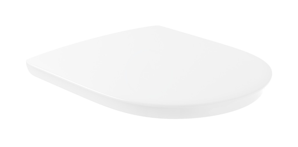 VILLEROY & BOCH O.novo Vita WC sedátko Compact, AntiBac, alpská bílá 9M7261T1