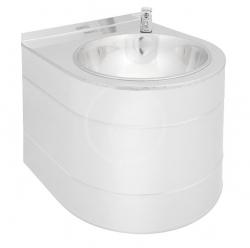 SANELA - Nerezové pitné fontánky Nerezová pitná fontánka s tlačnou armaturou (SLUN 14)