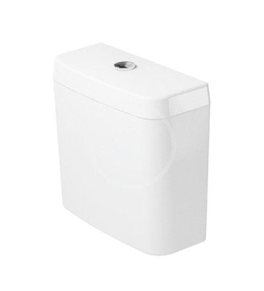 DURAVIT D-Code Splachovací nádrž 385x170 mm, připojení vpravo nebo vlevo, alpská bílá 0927000004