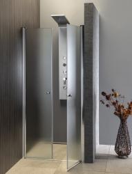AQUALINE - PILOT otočné sprchové dveře dvojkřídlé 800mm+vanička (PT082-SET1), fotografie 4/10