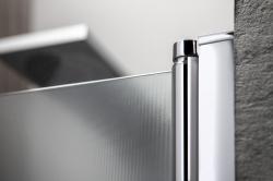 AQUALINE - PILOT otočné sprchové dveře dvojkřídlé 800mm+vanička (PT082-SET1), fotografie 8/10