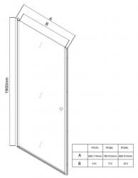 AQUALINE - PILOT otočné sprchové dveře 800mm+vanička (PT080-SET1), fotografie 18/10