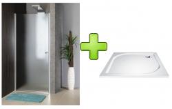 AQUALINE - PILOT otočné sprchové dveře 900mm+vanička (PT090-SET1)