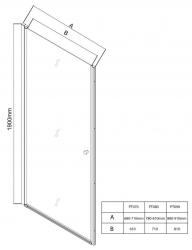 AQUALINE - PILOT otočné sprchové dveře 900mm+vanička (PT090-SET1), fotografie 20/10