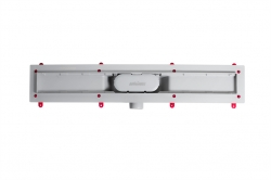 AQUALINE - PILOT otočné sprchové dveře 800mm+žlab (PT080-SET2), fotografie 4/11