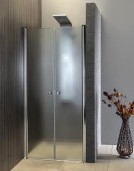 AQUALINE - PILOT otočné sprchové dveře dvojkřídlé 1000mm+žlab (PT102-SET2), fotografie 24/12