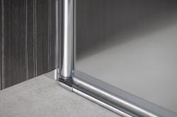 AQUALINE - PILOT otočné sprchové dveře dvojkřídlé 1000mm+žlab (PT102-SET2), fotografie 18/12