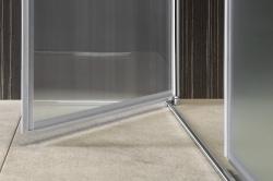 AQUALINE - PILOT otočné sprchové dveře dvojkřídlé 1000mm+žlab (PT102-SET2), fotografie 22/12