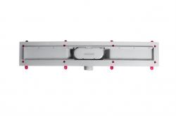 AQUALINE - PILOT otočné sprchové dveře dvojkřídlé 1000mm+žlab (PT102-SET2), fotografie 4/12