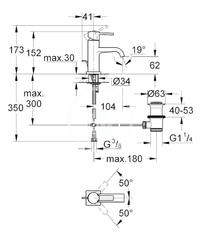 GROHE - Allure Páková umyvadlová baterie, chrom (32757000)