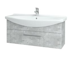 Dřevojas - Koupelnová skříň TAKE IT SZZ 105 - D01 Beton / Úchytka T01 / D01 Beton (134105A)