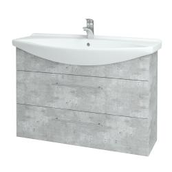 Dřevojas - Koupelnová skříň TAKE IT SZZ2 105 - D01 Beton / Úchytka T02 / D01 Beton (134174B)