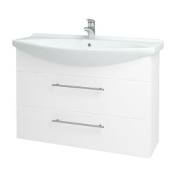 Dřevojas - Koupelnová skříň TAKE IT SZZ2 105 - N01 Bílá lesk / Úchytka T02 / N01 Bílá lesk (134464B)